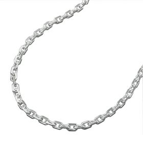 Ankerkette diamantiert 38 cm - Sterling Silber 925