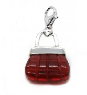 Charm rote Tasche